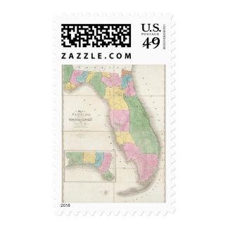 Mapa de la Florida 2 Estampilla