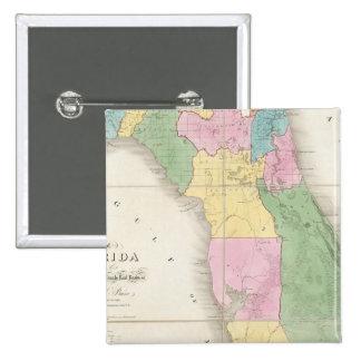 Mapa de la Florida 2 Pin Cuadrado