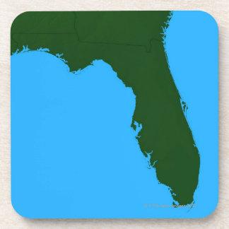 Mapa de la Florida 2 Posavasos De Bebidas
