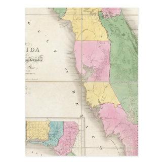 Mapa de la Florida 2 Postales