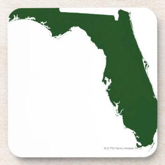 Mapa de la Florida 3 Posavasos De Bebidas