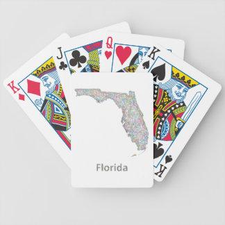 Mapa de la Florida Baraja De Cartas