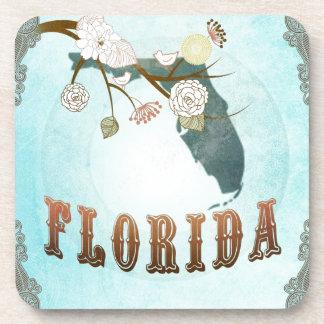 Mapa de la Florida con los pájaros preciosos Posavasos