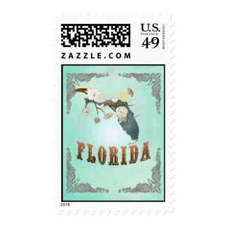 Mapa de la Florida con los pájaros preciosos Sellos