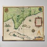 Mapa de la Florida, de 'Narratio breve Póster