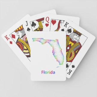 Mapa de la Florida del arco iris Baraja De Póquer