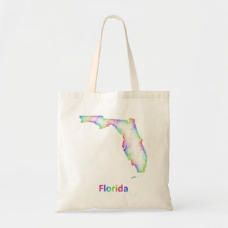 Mapa de la Florida del arco iris Bolsa Tela Barata