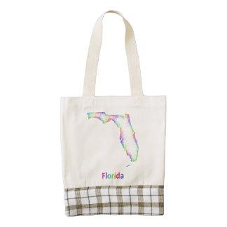 Mapa de la Florida del arco iris Bolsa Tote Zazzle HEART