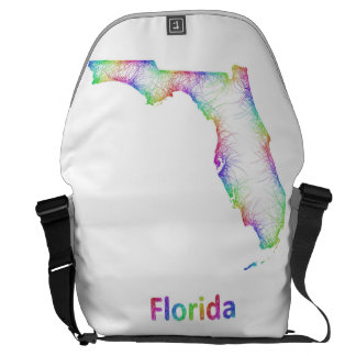Mapa de la Florida del arco iris Bolsas De Mensajería