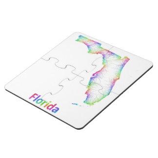Mapa de la Florida del arco iris Posavasos De Puzzle
