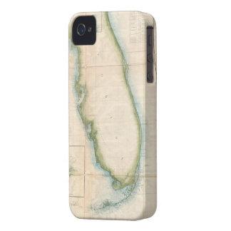 Mapa de la Florida del vintage iPhone 4 Case-Mate Carcasa
