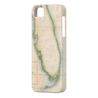 Mapa de la Florida del vintage iPhone 5 Funda