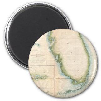 Mapa de la Florida del vintage Imán Redondo 5 Cm