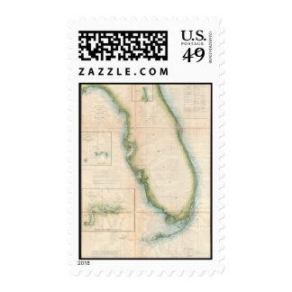 Mapa de la Florida del vintage Sellos