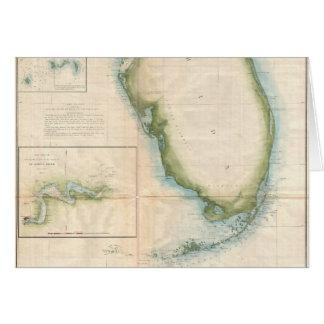 Mapa de la Florida del vintage Tarjeta De Felicitación