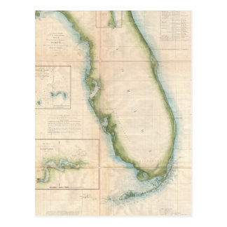 Mapa de la Florida del vintage Tarjetas Postales