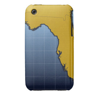 Mapa de la Florida Case-Mate iPhone 3 Carcasa