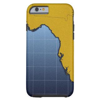 Mapa de la Florida Funda Para iPhone 6 Tough