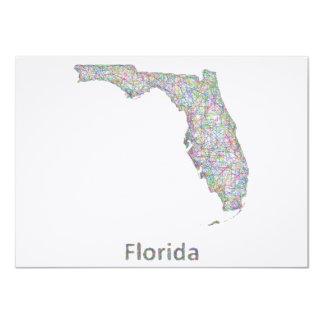 """Mapa de la Florida Invitación 4.5"""" X 6.25"""""""