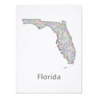 """Mapa de la Florida Invitación 6.5"""" X 8.75"""""""