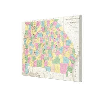 Mapa de la Florida Lienzo Envuelto Para Galerias