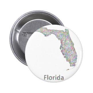 Mapa de la Florida Pin Redondo De 2 Pulgadas