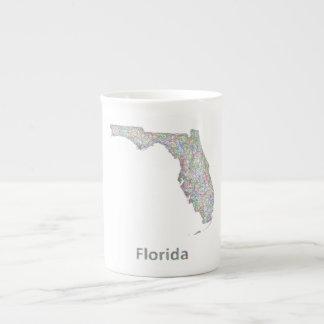 Mapa de la Florida Taza De Porcelana