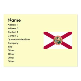 Mapa de la Florida y bandera del estado Plantilla De Tarjeta De Visita