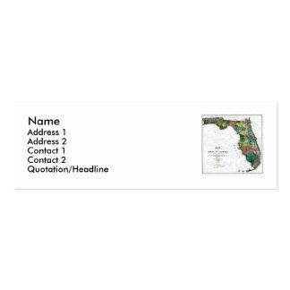 Mapa de la Florida y bandera del estado Tarjetas De Negocios
