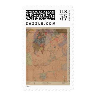 Mapa de la geología, pieza nacional de timbres postales