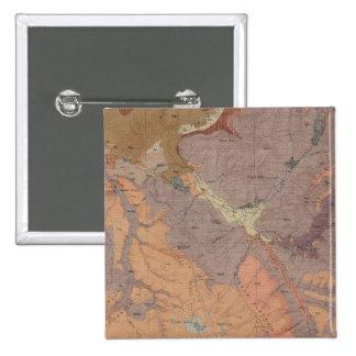 Mapa de la geología, pieza nacional de Yellowstone Pins