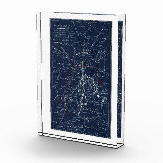 Mapa de la guerra civil del campo de batalla de
