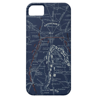 Mapa de la guerra civil del campo de batalla de iPhone 5 funda