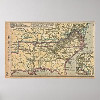 MAPA de la guerra civil Póster