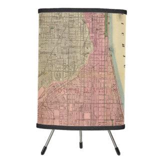 Mapa de la guía de Blanchard de Chicago 2 Lámpara Trípode