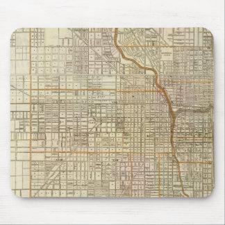 Mapa de la guía de Blanchard de Chicago Alfombrillas De Ratón