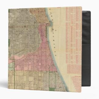 """Mapa de la guía de Blanchard de Chicago Carpeta 1 1/2"""""""