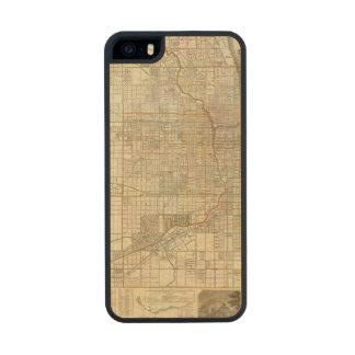 Mapa de la guía de Blanchard de Chicago Funda De Madera Para iPhone 5