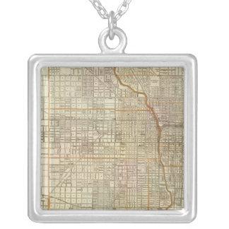 Mapa de la guía de Blanchard de Chicago Joyería