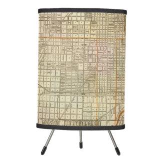 Mapa de la guía de Blanchard de Chicago Lámpara Trípode