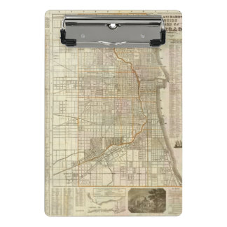 Mapa de la guía de Blanchard de Chicago Minicarpeta De Pinza