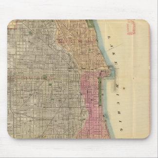Mapa de la guía de Blanchard de Chicago Mousepads