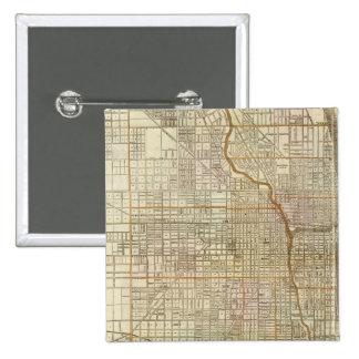 Mapa de la guía de Blanchard de Chicago Pin Cuadrada 5 Cm