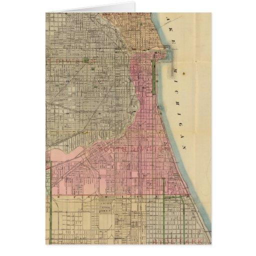 Mapa de la guía de Blanchard de Chicago Tarjetón