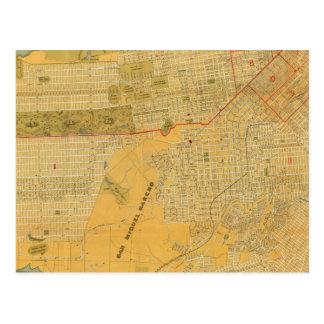 Mapa de la guía de Britton y de Rey Postal