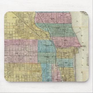 Mapa de la guía de Chicago Alfombrillas De Raton