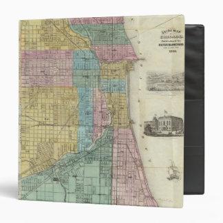 "Mapa de la guía de Chicago Carpeta 1 1/2"""