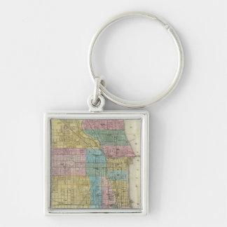 Mapa de la guía de Chicago Llavero Personalizado