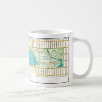 Mapa de la guía del Central Park NY del vintage Taza De Café