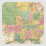 Mapa de la historia de los Estados Unidos de Améri Pegatina Cuadradas Personalizada